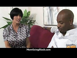 Hot milf Mom make a blowjob and ride a big black cock interracial 12