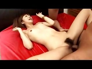 Slim Girl getting her pussy fucked while sucking cock 2 guys