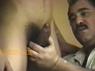 Uncle giving a blowjob to his nephew