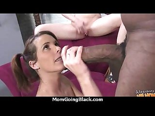 Mature Mom barely takes 10 inch Black Cock 25