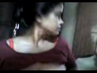 Desi Aunty in saree boobs press pussy fingering by neighbor