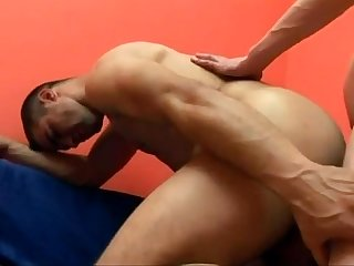 Muscular studs bareback fucking with facial