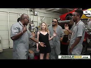 Boss' Daughter DPed By a Bunch of Black Slackers - Angel Smalls
