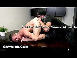 Gaywire aggressive gay sex fantasy cums true on pound his ass