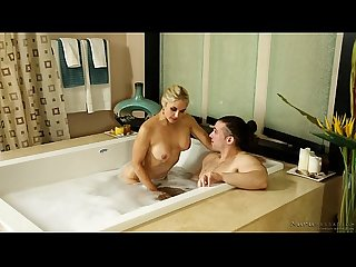 Nuru massage with sarah vandella and her nephew