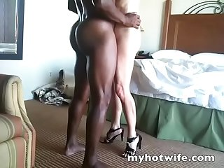 My white wife takes black cock