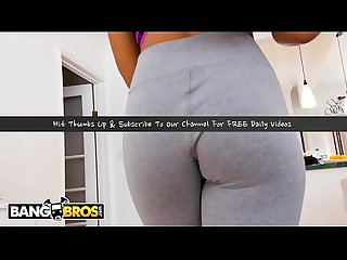 BANGBROS - Ebony Beauty Jenna Foxx Fucks Step Brother Ricky Johnson