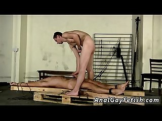 Gay naked emo boys blowjob Theo lays nude and restrained, his assets