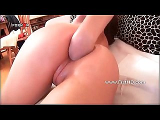 Jey lo shoves full fist up her tiny ass