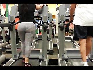 My mom on treadmill