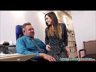 Sexy Big Ass Teen Step Daughter Bambi Brooks Seduces Step Dad At Work For Promotion