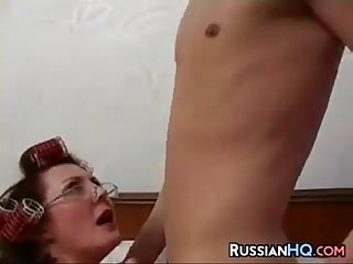 Russian Granny Getting Fucked