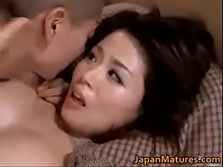 Big boob Asian milf Miki Sato fucks teen stepson. Hot uncensored.