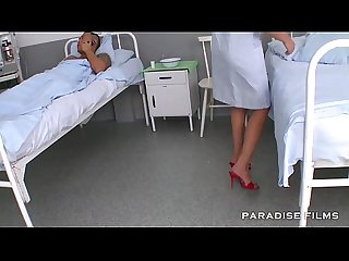Nurse feet fetish at the hospital