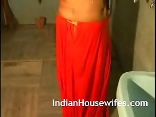 Hot indian bhabhi taking shower in lingerie