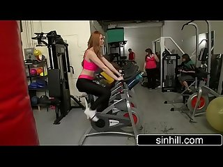 Redhead Farrah Flower Fucks Trainer In Public Gym