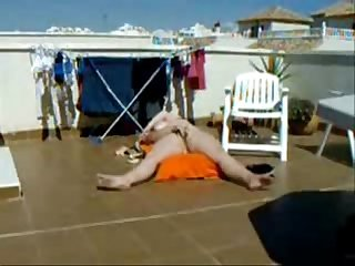 My gorgeous mom sunbathing and masturbating period hidden cam