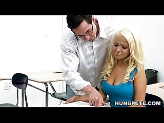 Cami Cole on her teacher S big dick peter north
