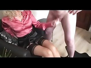 Best Mom Wanking off Dad Over Her Stockings. See pt2 at..