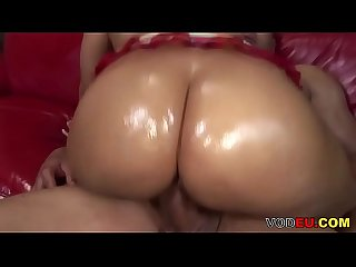 VODEU - Bubble butt ebony riding a monster cock