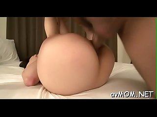Fat and hairy pussy lips asian mom fucks herself with marital-device