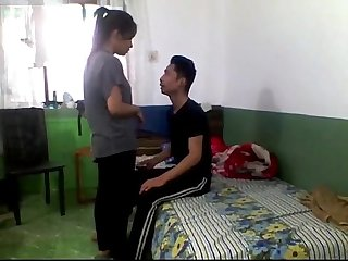 Nepali college couple argue and then fuck hard at home