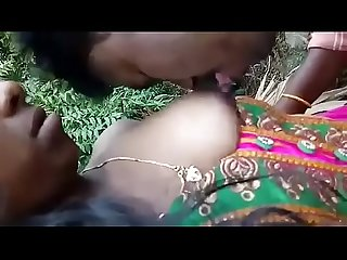 Desi bhabhi boobs suck by devar in outdoor