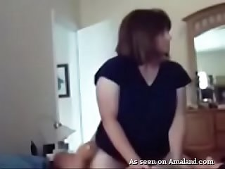 Hot BBW riding cock gets recorded on camera