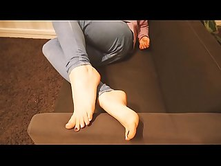Foot fetish chill foot display at home