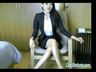 Gorgeous asian office lady webcamshow part 1 camstationtv com