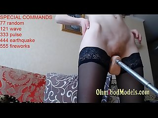 Teen screaming moaning hardcore pussy destroyed by sex machine