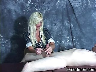 Hard slaps on cock experienced during jerk off process