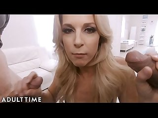 ADULT TIME Ur MILF Wife India Summer Cucks U with 2 Hung Guys