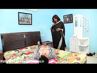Cute aunty bra changing and hot bedroom scene