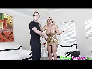FamilyOrgasm.com - Teaching Son by Boobed Cougar