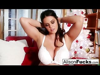 Busty Alison Tyler celebrates Christmas with her pussy