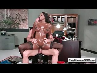 Oily office with diamond jackson from dirty masseur part03