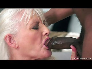 Big Black Cock For A Lusty White Fat Granny Grannies