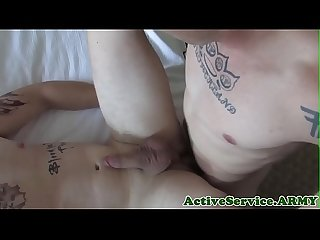 Muscly soldier assfucking straight amateur