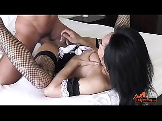 Ladyboy Maid Maya Serves Up Some Sex