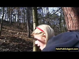 Pickedup public amateur cocksucking in forest