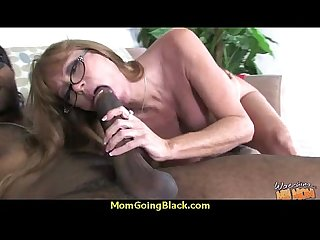 Mature lady in interracial amateur video 17