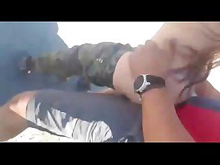Una colombianita Follando en la autopista