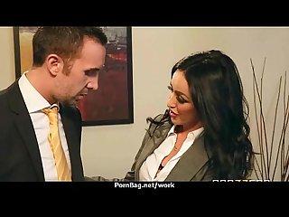 Busty hottie has hardcore office affair 25