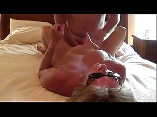 Busty wife getting fucked and givig a titjob