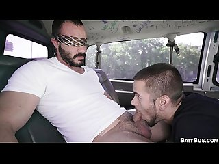 Buff straight guy gets tricked on the bait bus tbb15850