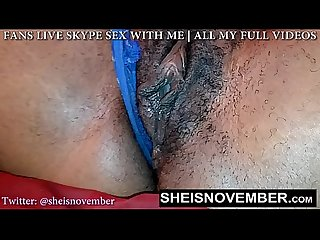 Msnovember hairy bush has to lick while i rub my pussy til i orgasm squirt
