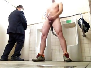 Public Toilet jerk off hot goo