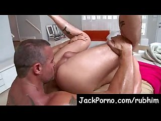 Gay massage with happy ending rub him video12