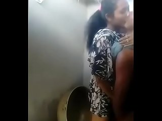 Indian girl and boyfriend sex in bathroom